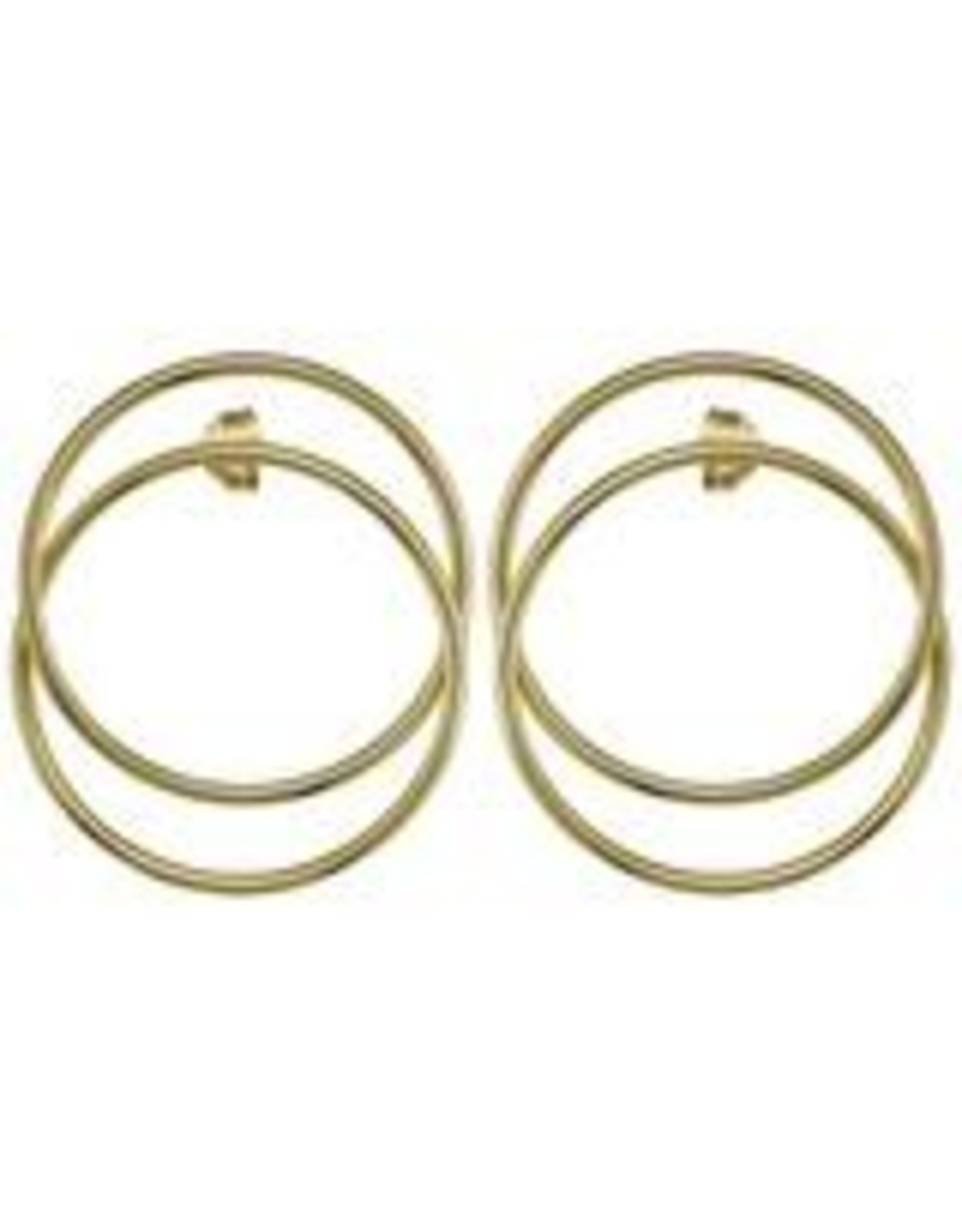 Sheila Fajl Madrid Frontal Hoop Earrings Gold