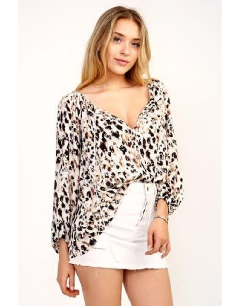 Mallory Leopard Top