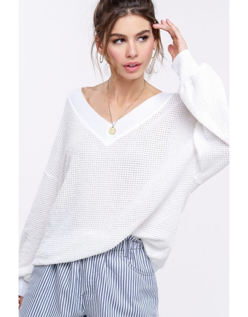 New Season Waffle Knit Top