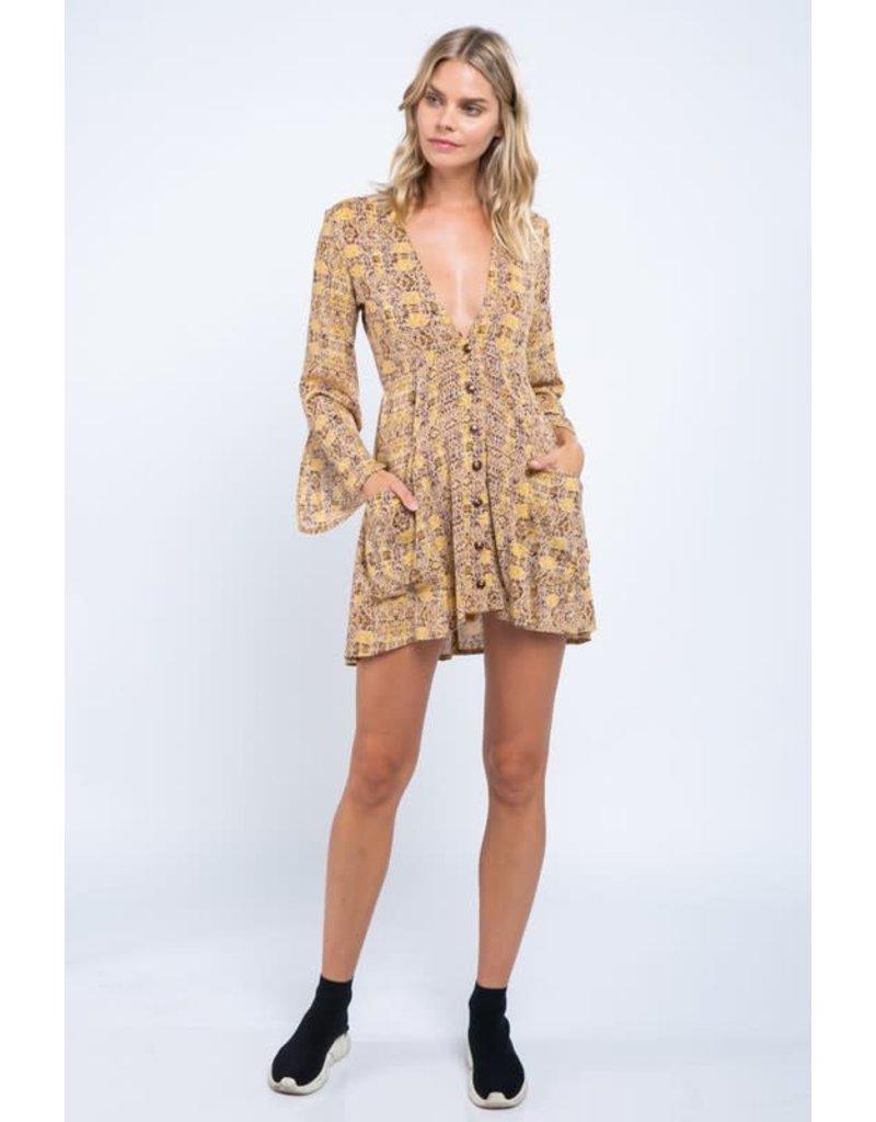 No Quarter Button Down Dress