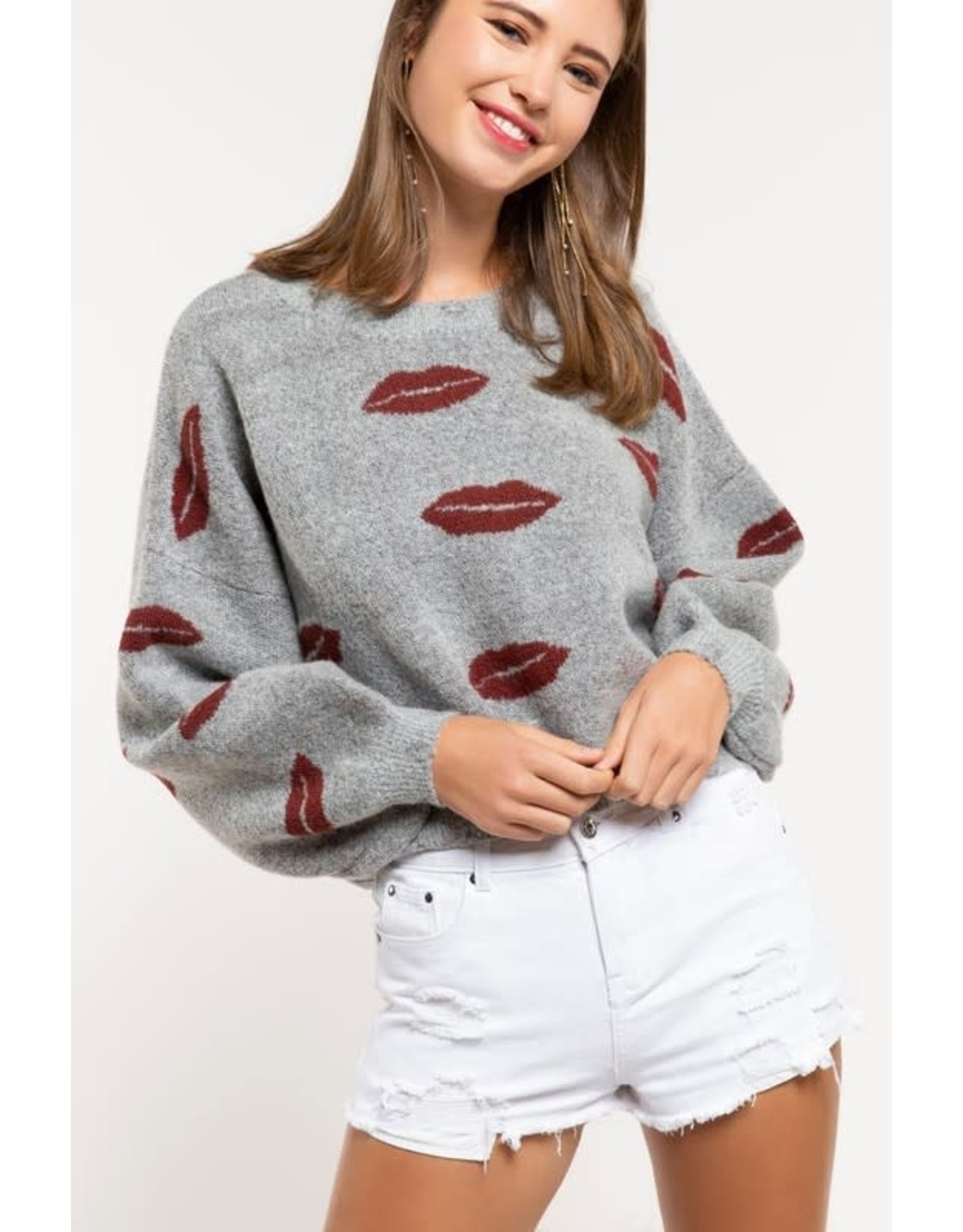 Blowing Kisses Sweater