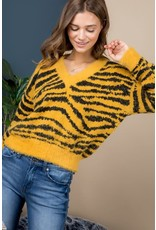 Wild Cat Striped Sweater