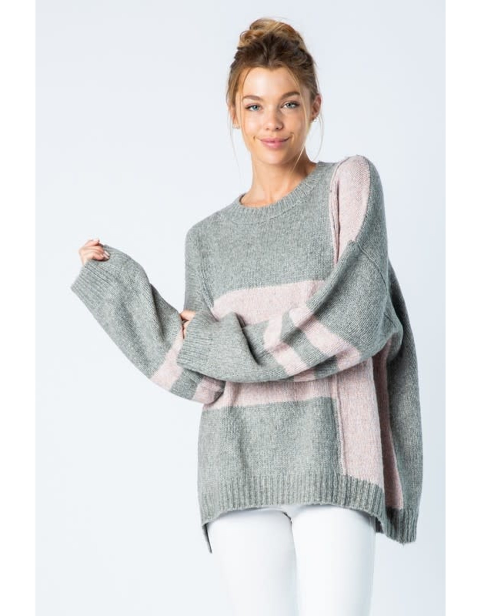 Blocked Off Sweater