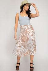 Stay Grounded Midi Skirt
