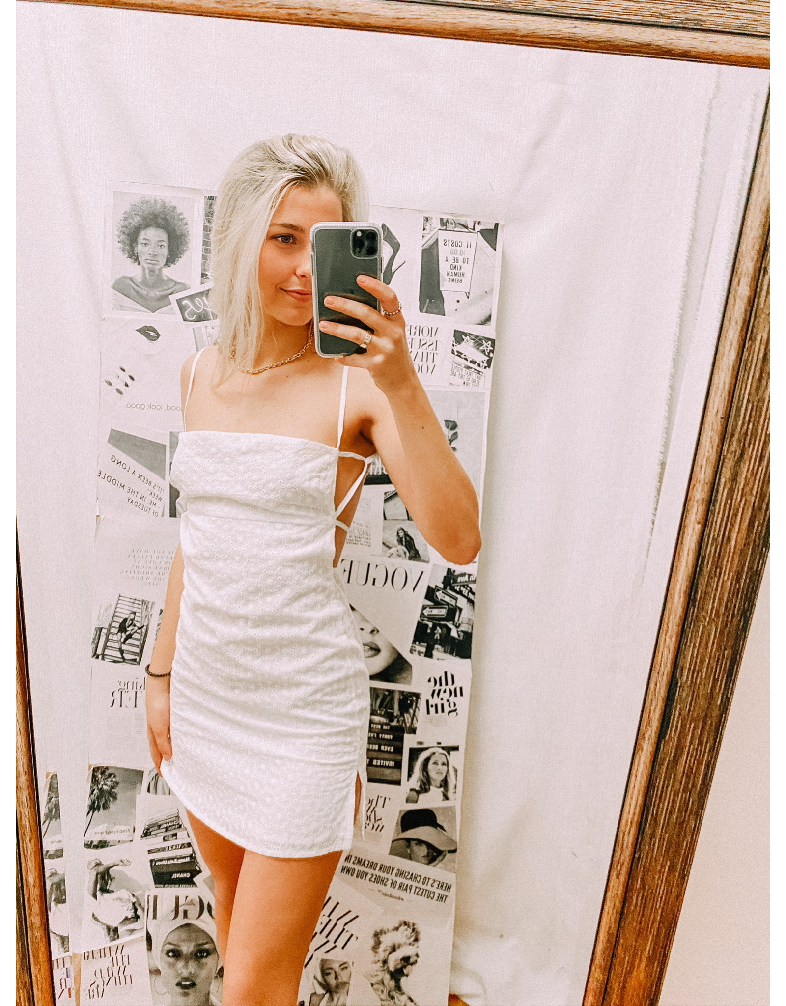 Eyelet Staple Dress
