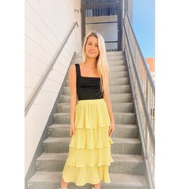 Shake It Up Ruffle Midi Skirt