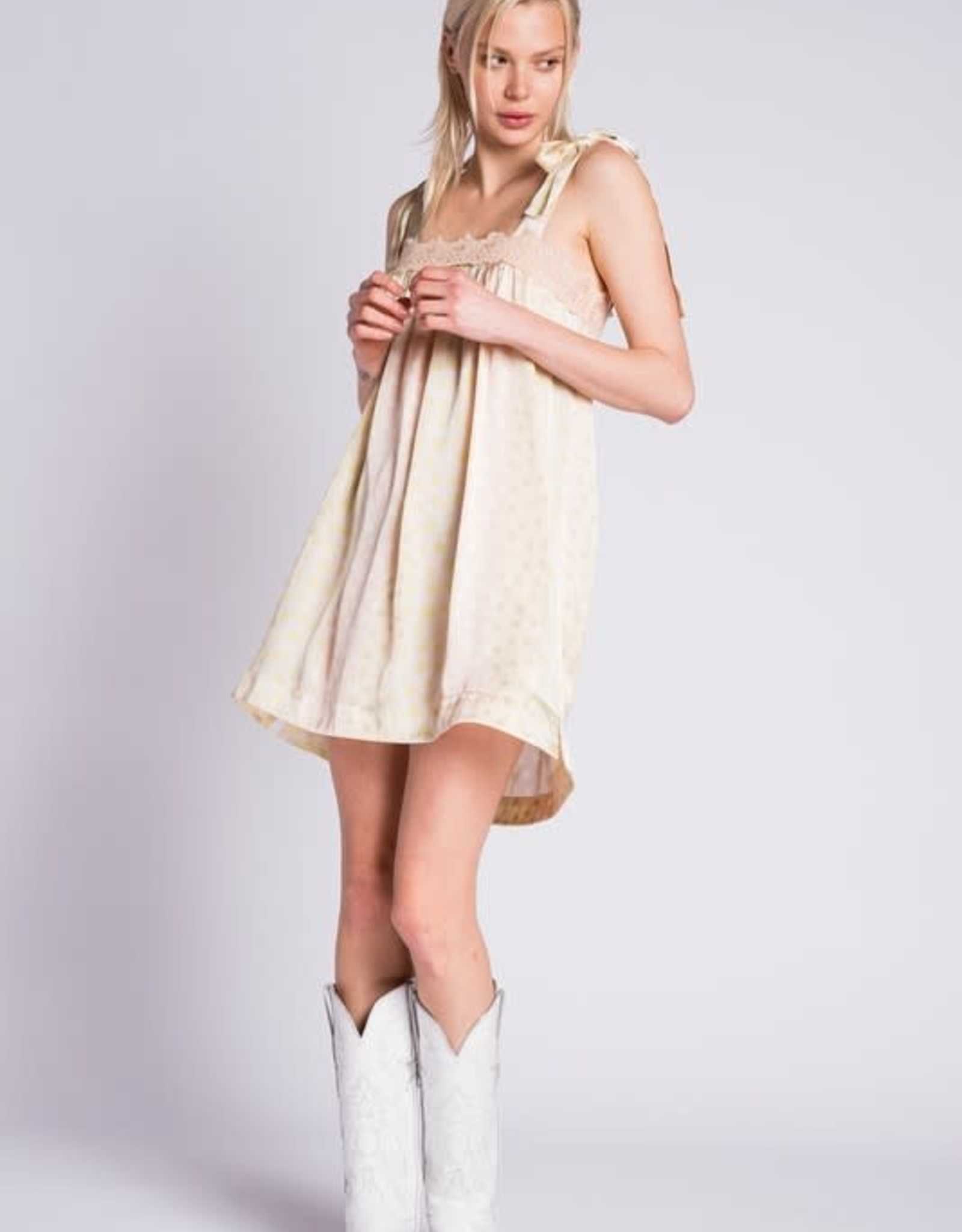 Tea Party Silk Dress