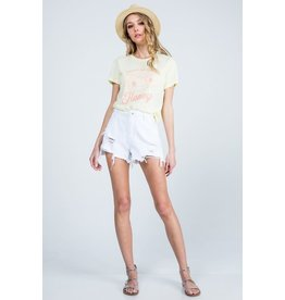 Whitley White Denim Shorts