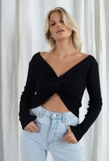 Don't Get It Twisted Cropped Sweater
