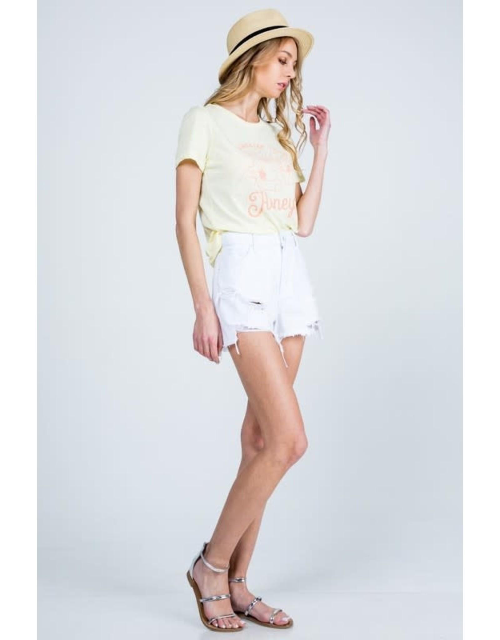 Whitley White Denim Shorts