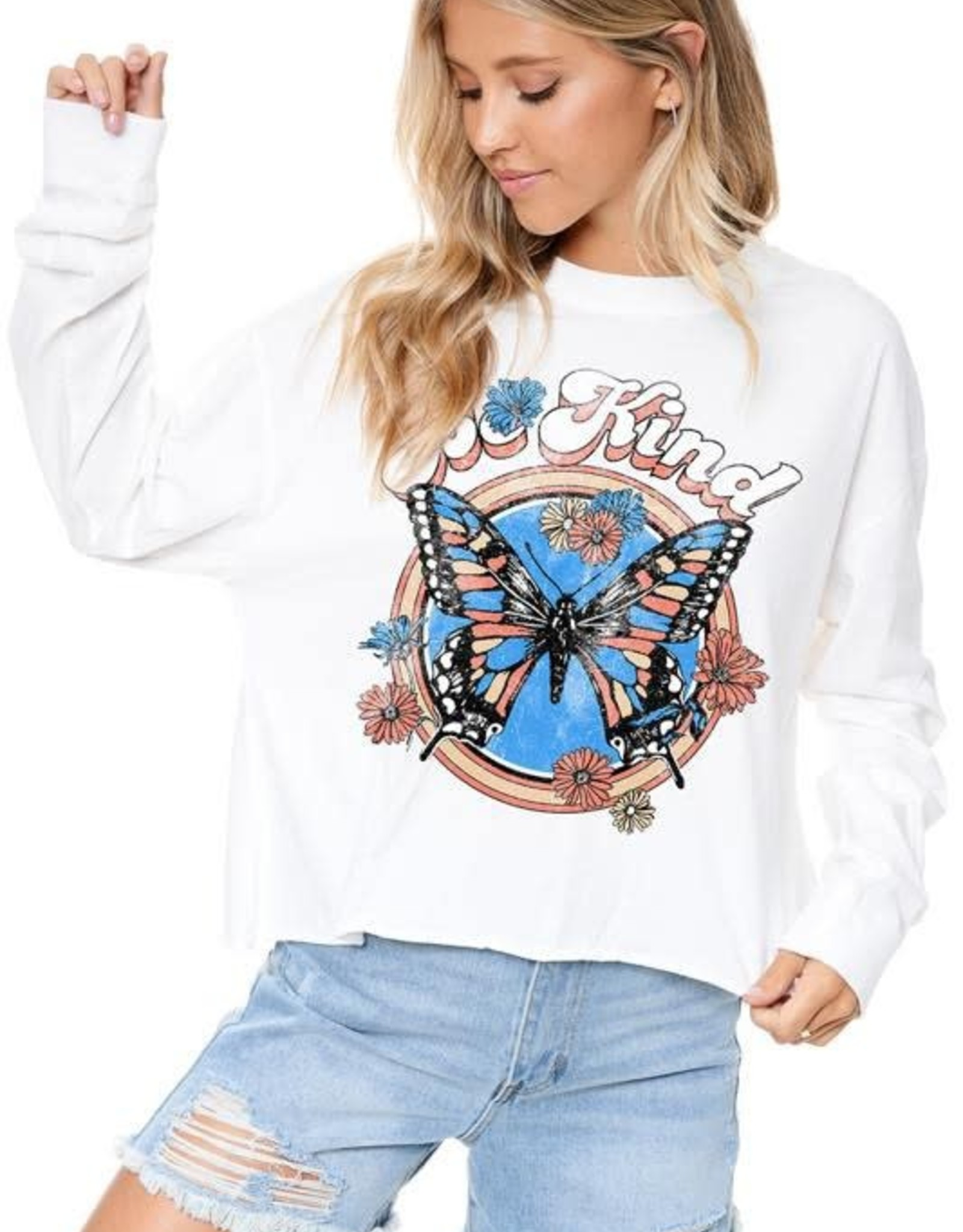 Be Kind Butterfly Graphic Tee