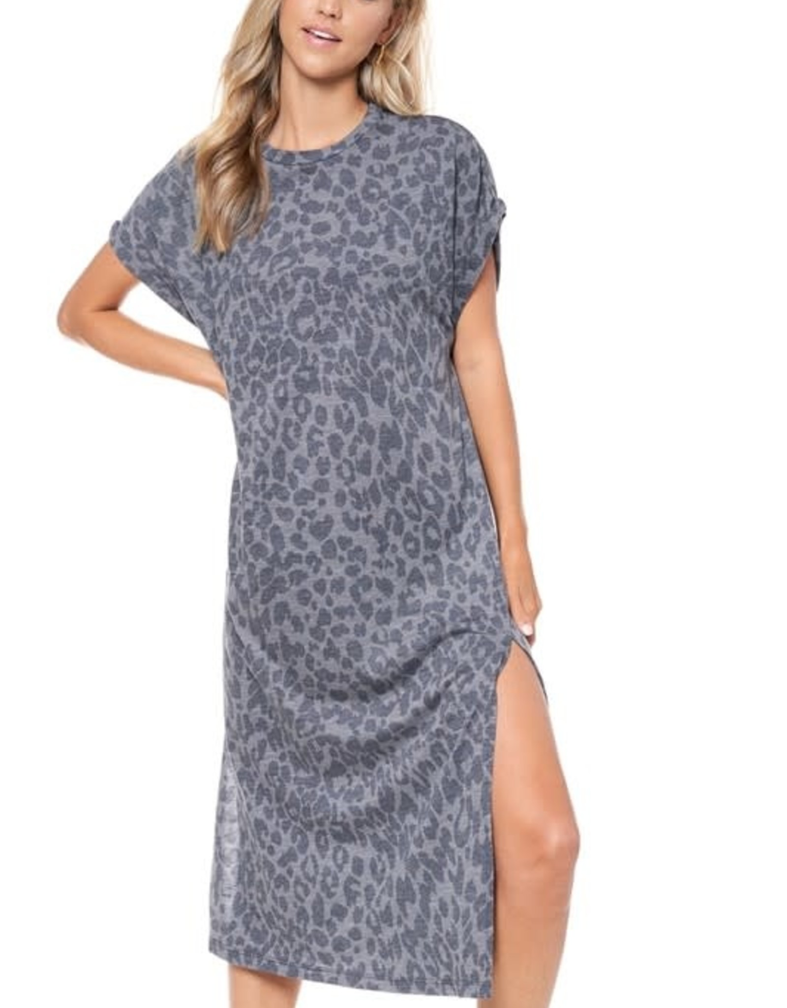 Comfy Leopard  Midi Dress