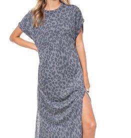 Comfy Leopard  Midi Dress