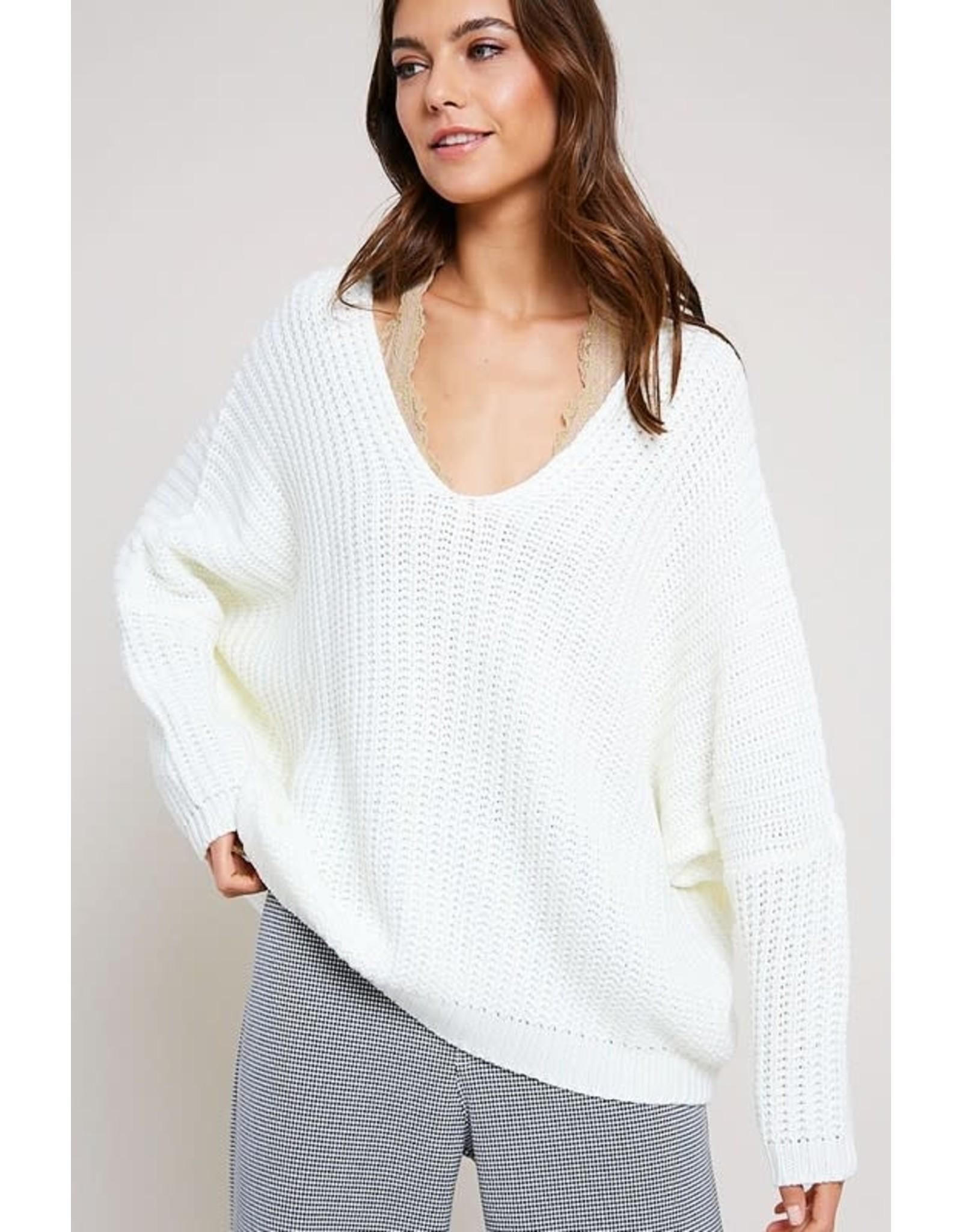 All Be Fine V-Neck Sweater