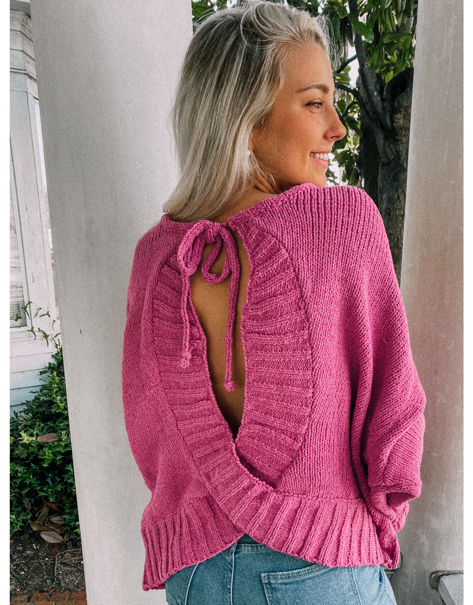 Marie Open Back Sweater