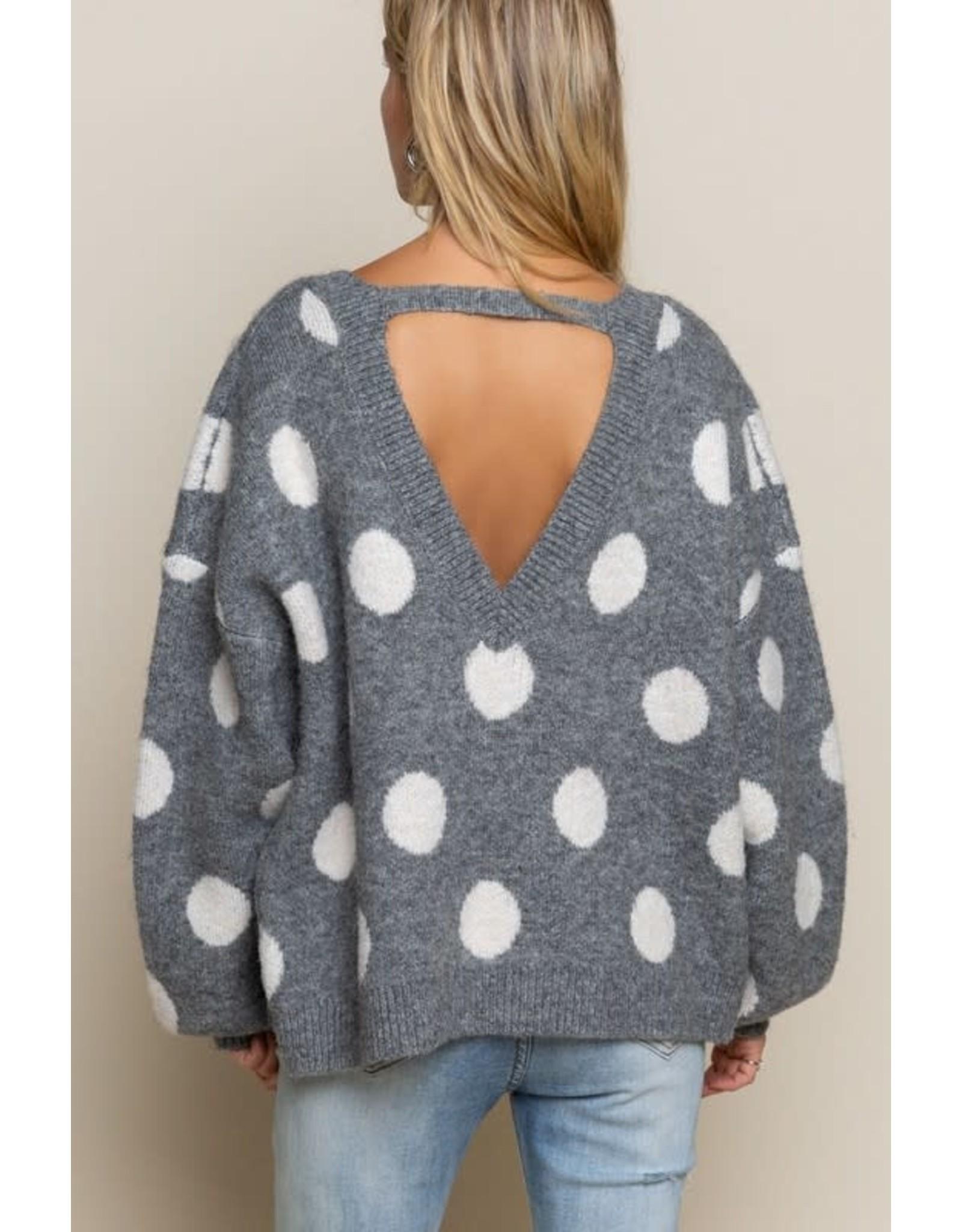 Don't Push My Dots Sweater