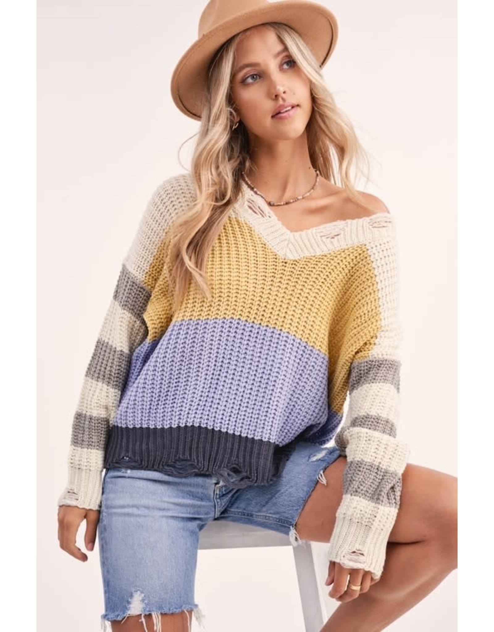 Can't Decide Striped Sweater