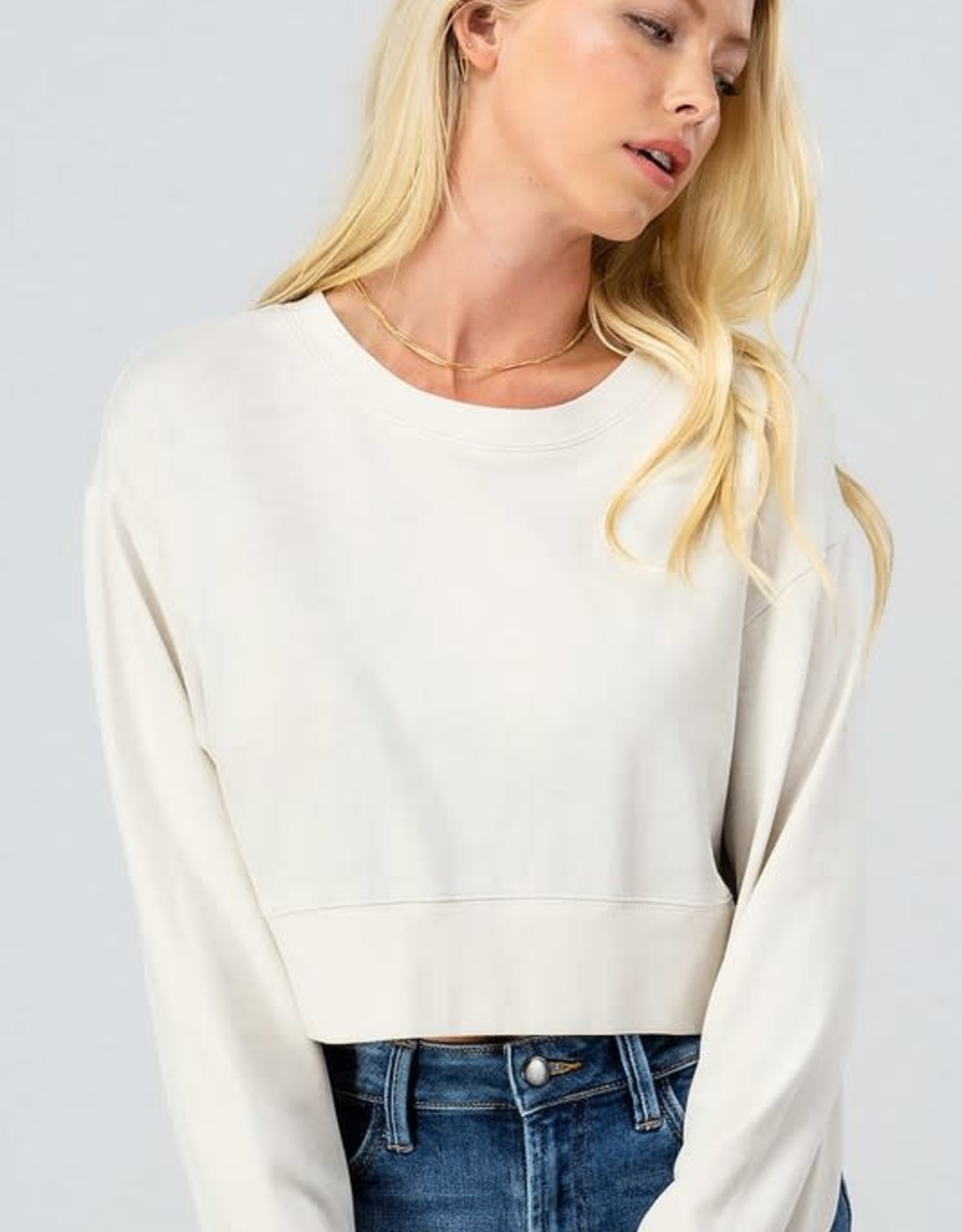 Just Right Cropped Sweatshirt