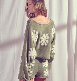 Cover Me In Daisies Sweater