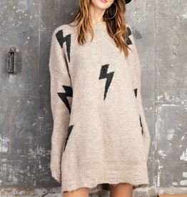 When Lightning Strikes Sweater Dress