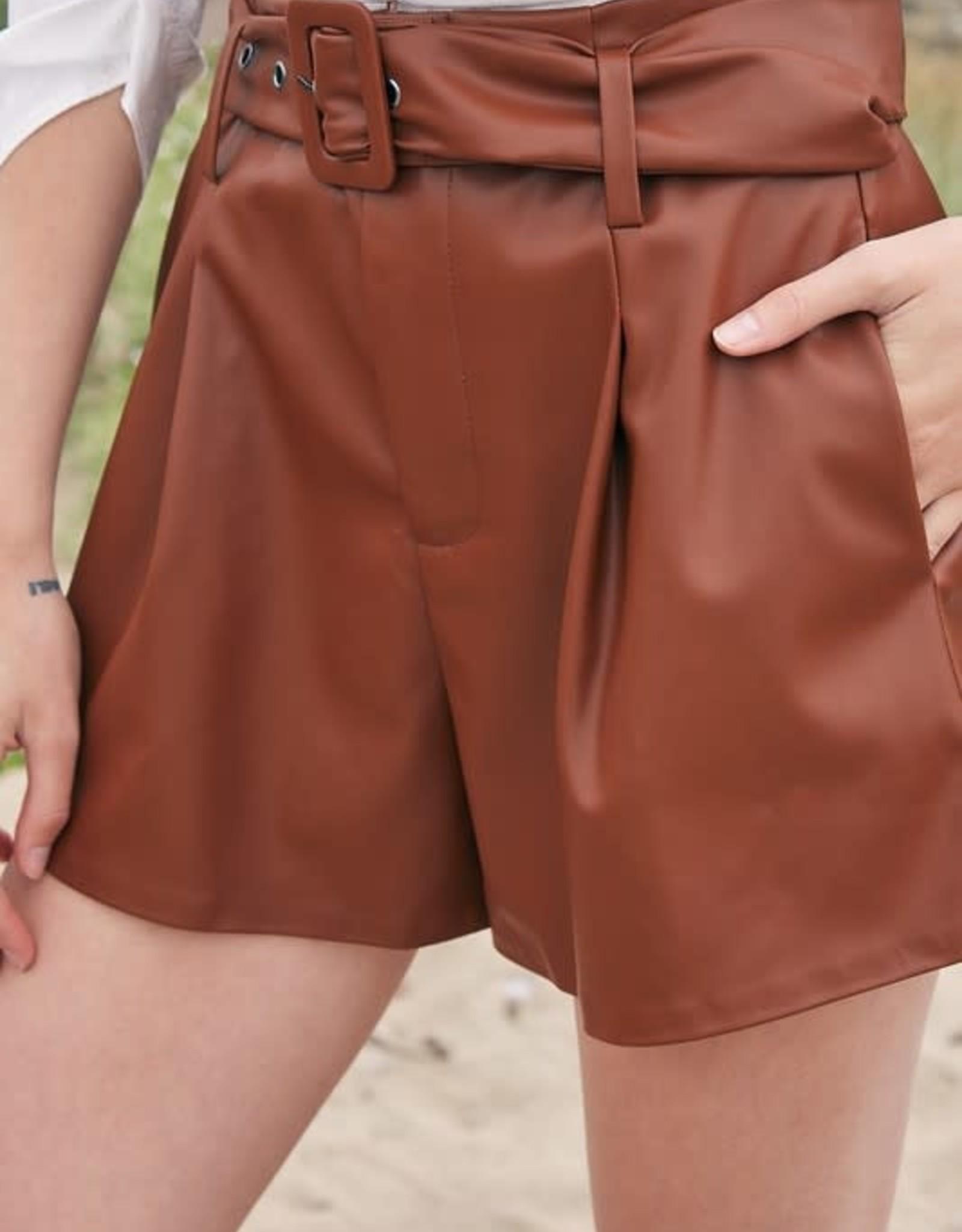 Wayward Leather Shorts