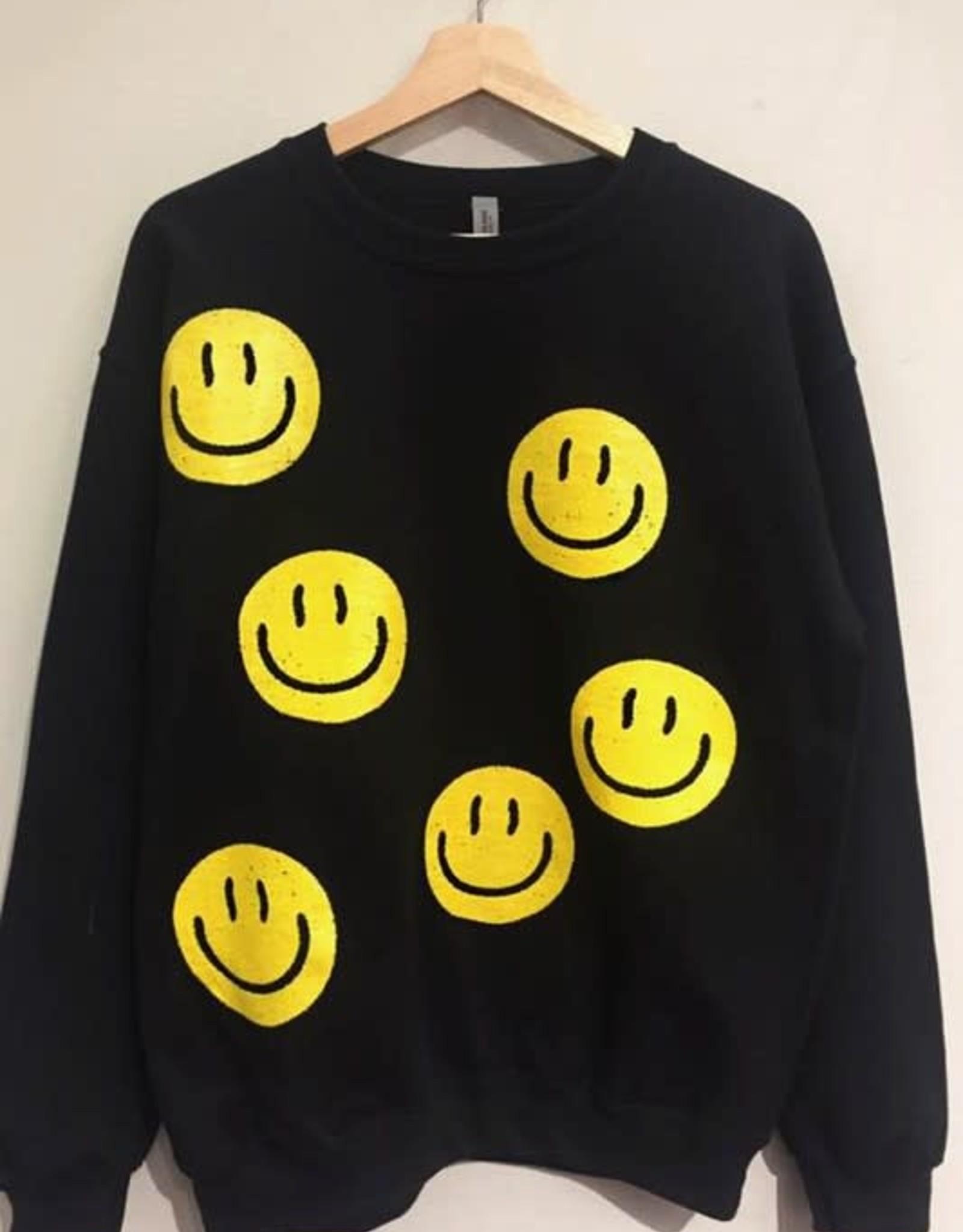 Smiley Face Crewneck Sweatshirt
