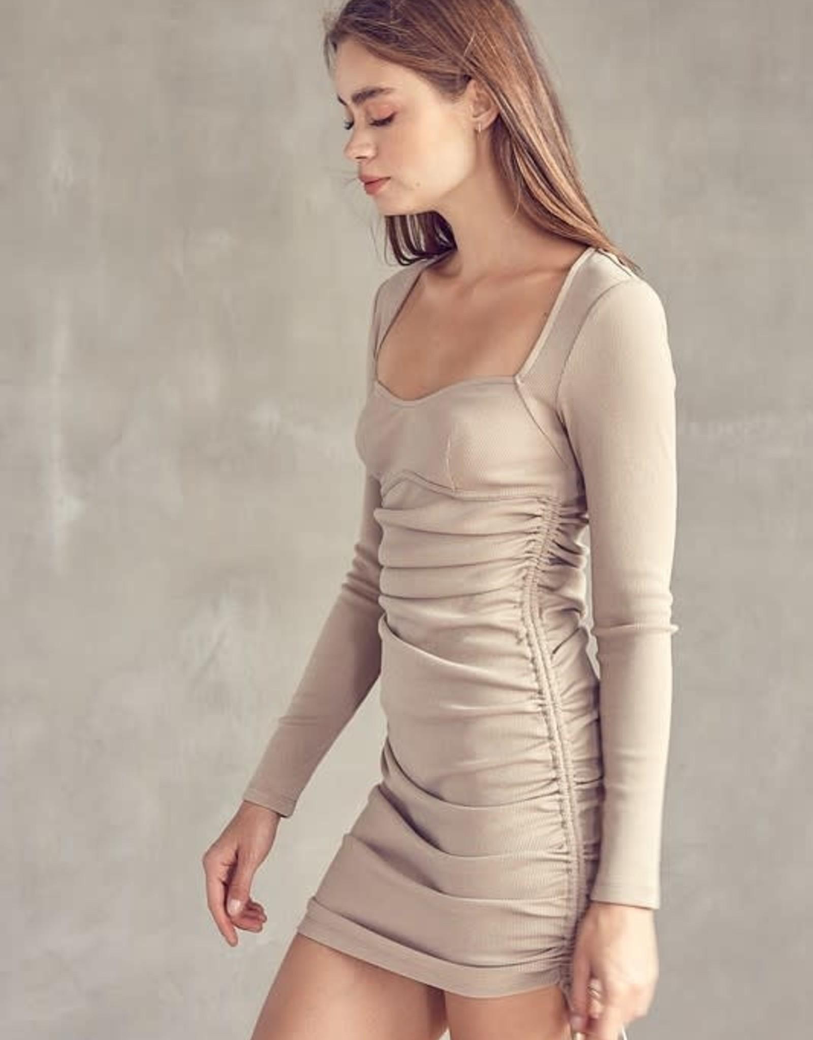 Hallie Ruched Tie Dress