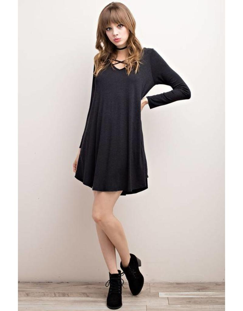 Cross Front Game Day Dress