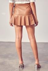 Gemma Leather Skort