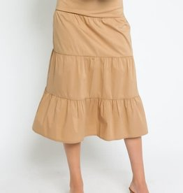 One Tier at a Time Midi Skirt