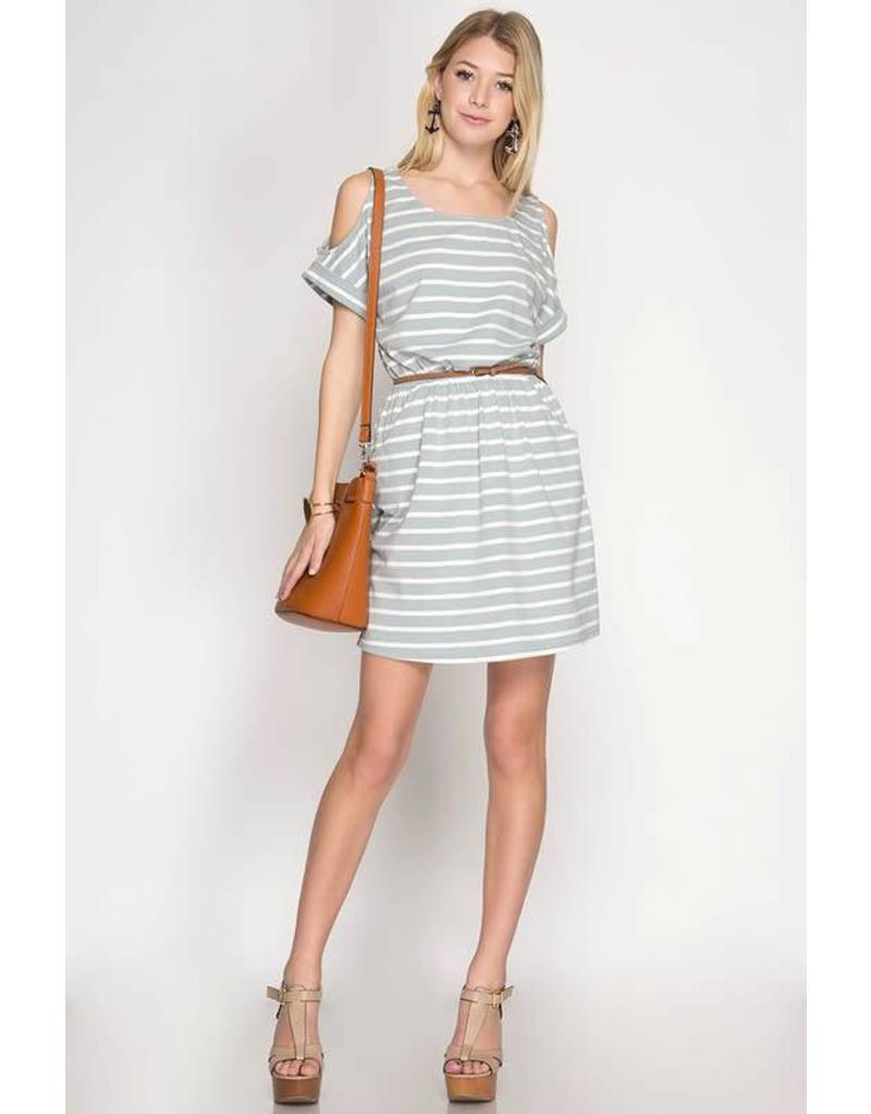 Claire Striped Dress