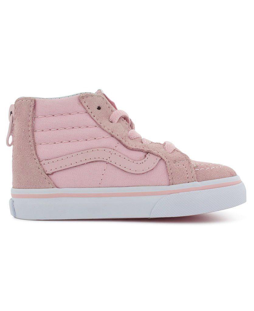Vans SS18 Souliers SK8-Hi Zip Chalk Pink/True White Vans