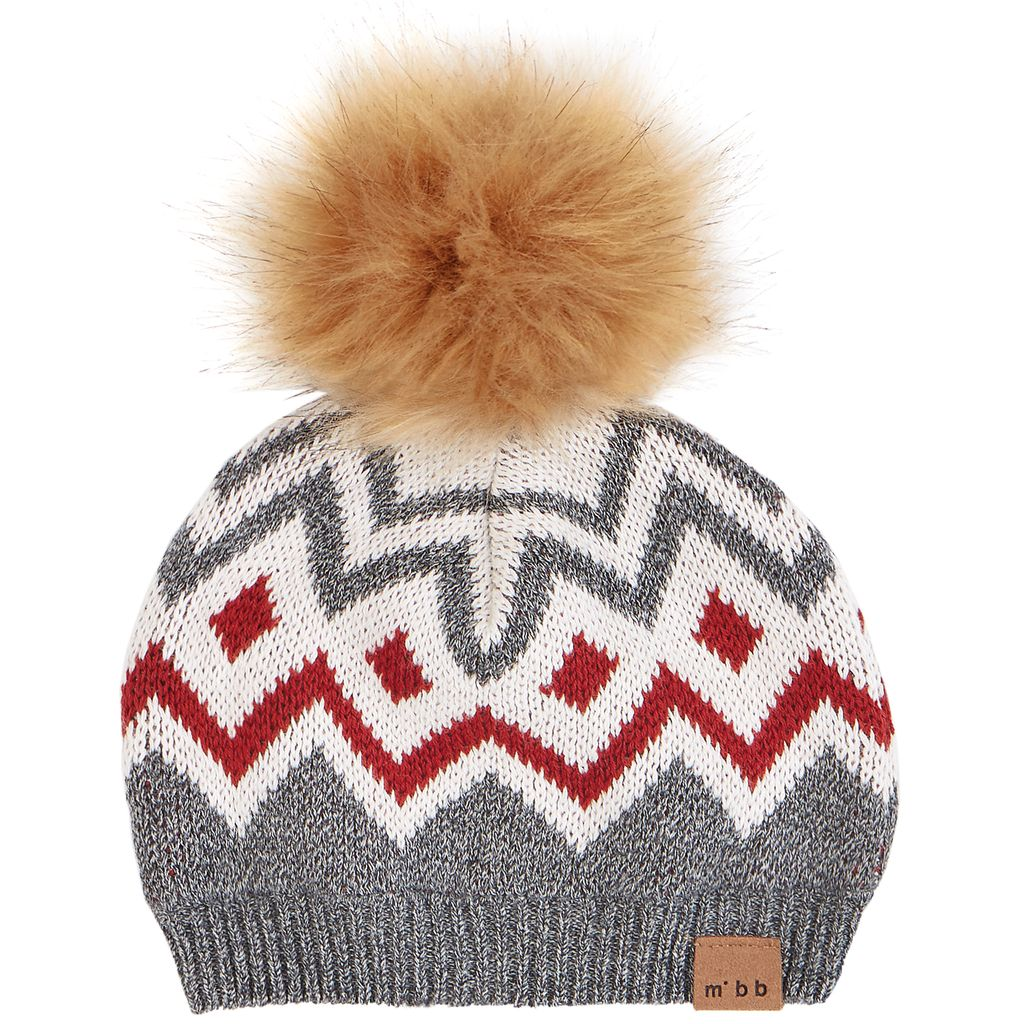 Miles Baby FW18 Tuque Rayures et Pompoms Miles Baby