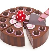Le Toy Van Gâteau de Fête Chocolat en Bois Honeybake de Toy Van/ Wooden Chocolate Cake