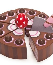 Gâteau de Fête Chocolat en Bois Honeybake de Toy Van/ Wooden Chocolate Cake