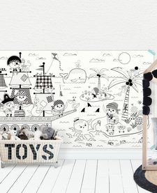 Coloriage Géant Pirates Tabaga (153cm/92cm) / Giant Coloring Poster Pirates