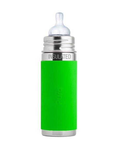 Biberon Isolé en Acier Inoxydable Pura Kiki - Lime - Infant Insulated Bottle 9oz Lime