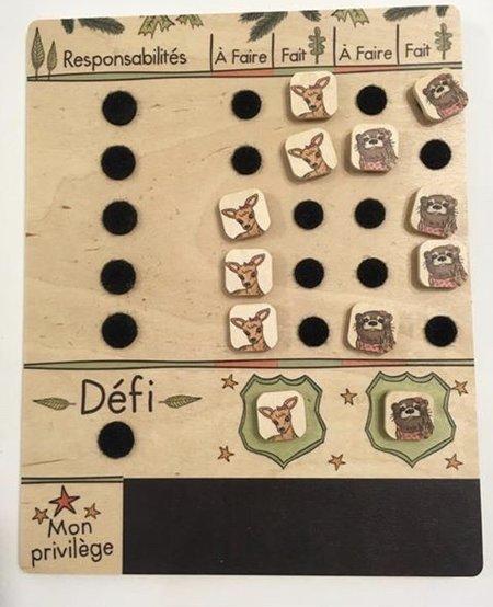 Les Défis de la Meute Castor et Compagnie Tableau de Tâches Double 5/10A - Assortis