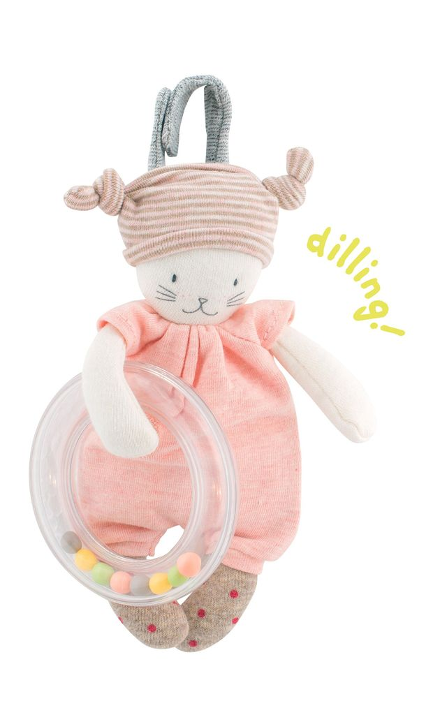Moulin Roty Les petits dodos-Hochet chat
