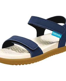 SS19 Sandales Charley Regatta Blue / Bone White / Toffee Brown de Native