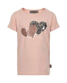 SS19 T-Shirt Manches Courtes, Coeur en Séquins - Creamie