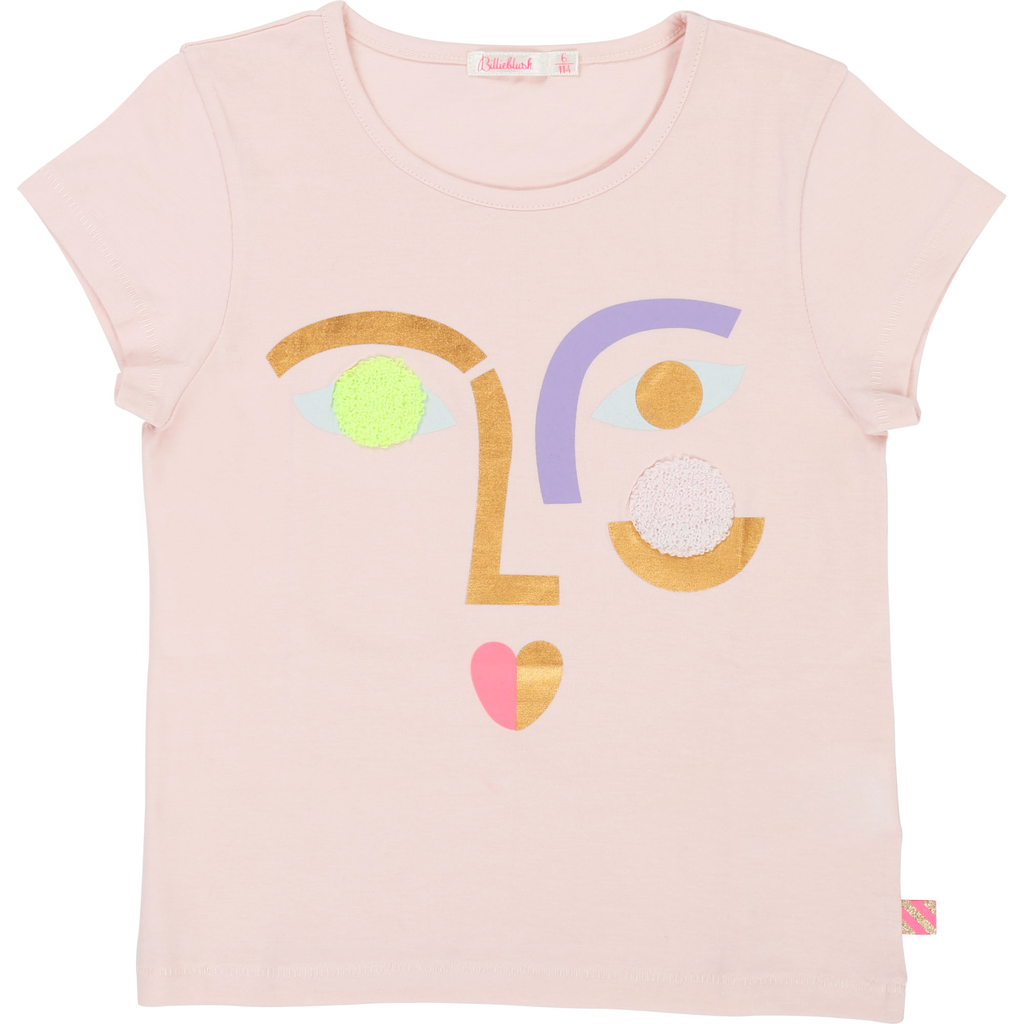 Billieblush SS19 T-Shirt Dessin Visage - Billieblush