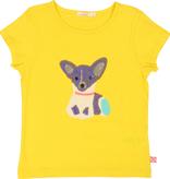 Billieblush SS19 T-Shirt Jaune avec Chien en Paillettes - Billieblush