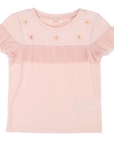 SS19 T-Shirt de Cérémonie, Motifs Fleurs - Billieblush