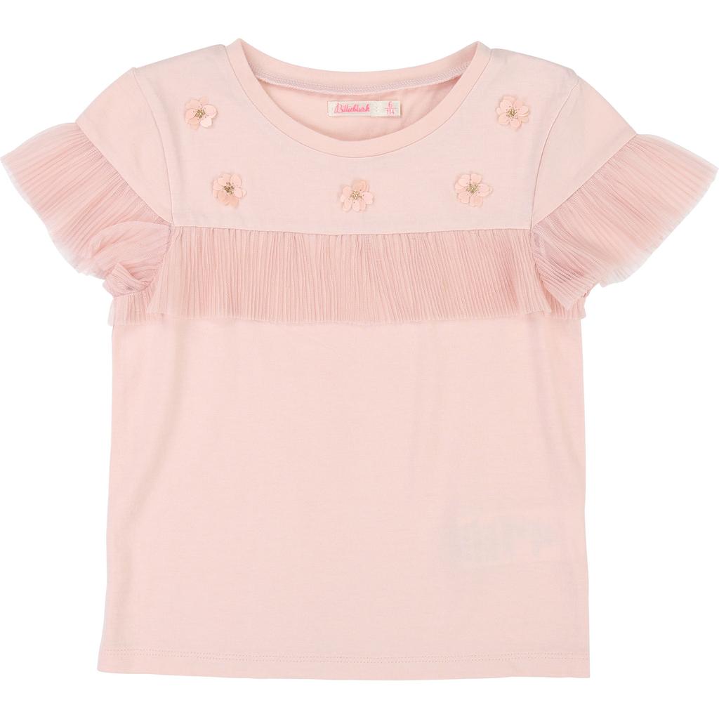 Billieblush SS19 T-Shirt de Cérémonie, Motifs Fleurs - Billieblush