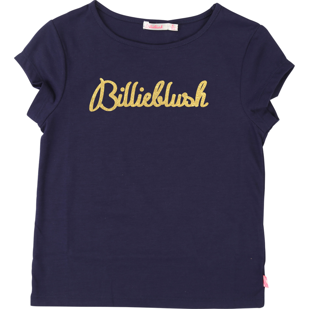 Billieblush SS19 T-Shirt Logo Billieblush Doré - Billieblush