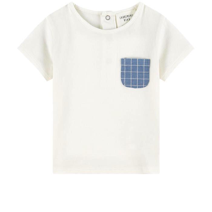 Carrément Beau SS19 T-Shirt à Pochette en Denim - Carrément beau