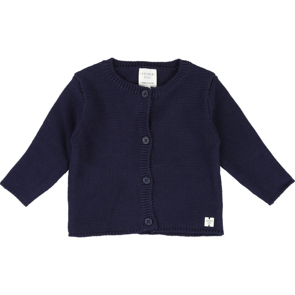 Carrément Beau SS19 Cardigan Tricot Bleu Foncé - Carrément beau