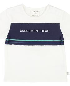SS19 T-Shirt Logo Bleu Marine - Carrément beau