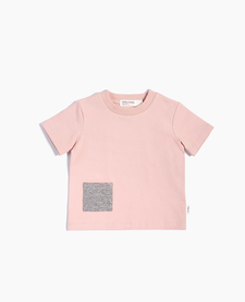SS19 T-Shirt Tricot Rose À Pochette de Miles Baby